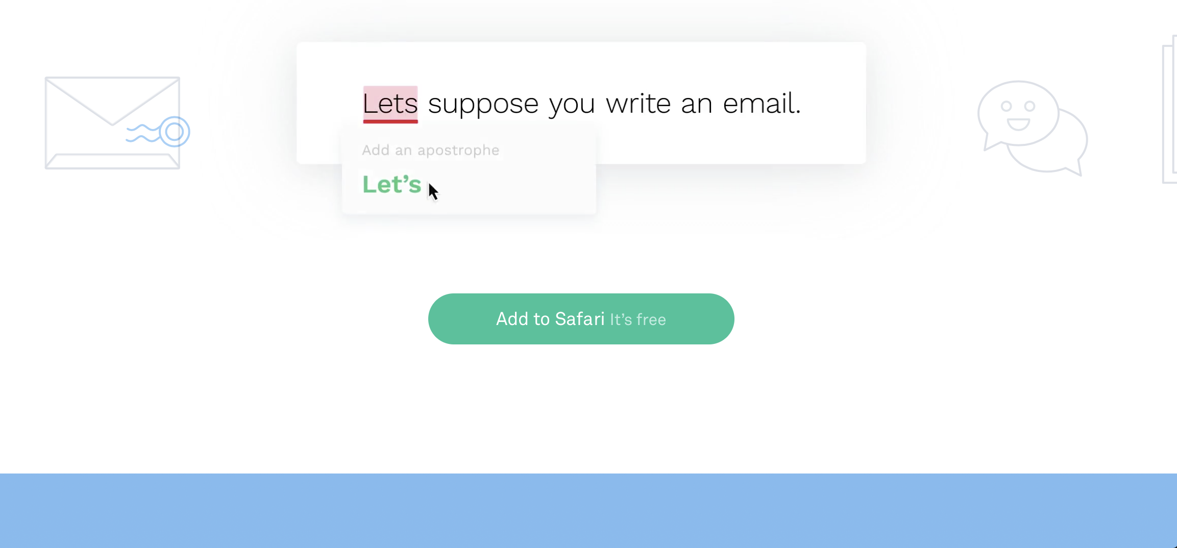 Grammarly Screencap showing off editing capabilities