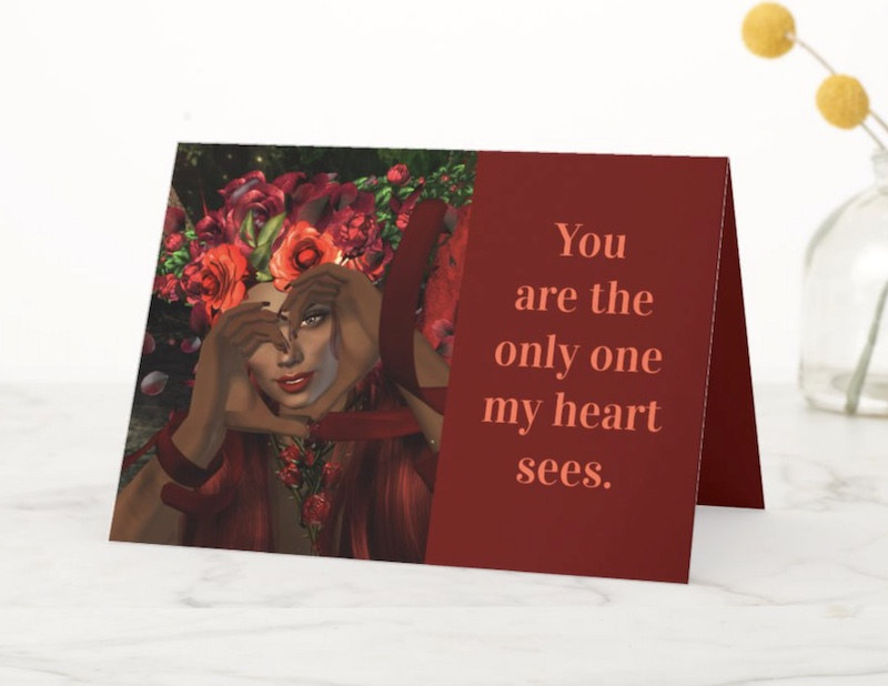 Heart-Hands Fairy Valentine's Day Card for sale